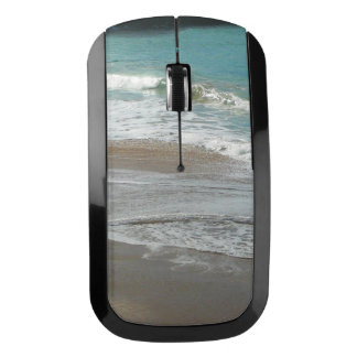 Waves Lapping on the Beach Turquoise Blue Ocean Wireless Mouse