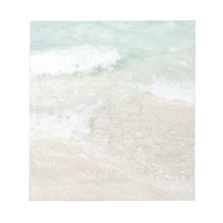Waves Lapping the Shore Background Notepad