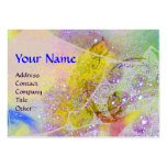 WAVES  MONOGRAM, bright yellow green blue purple Large Business Cards (Pack Of 100)