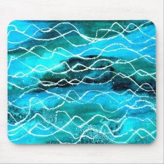 'Waves' Mousepad mousepad