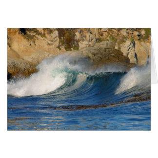 waves_near_big_sur tarjeta de felicitación