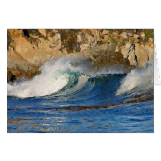 Waves Near Monterey Big Sur California Painted Card
