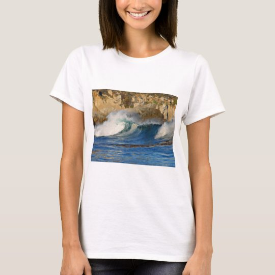 Waves Near Monterey Big Sur California Painted T-Shirt