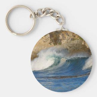 Waves Near Monterey Keychains