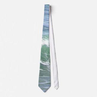 Waves Ocean Foam Water Neck Tie