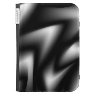Waves of Black and White Case For Kindle