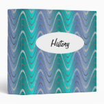 Waves of Blue and Turquoise Vinyl Binders