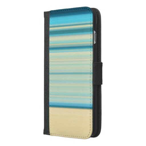 Waves of blue iPhone 6/6s plus wallet case