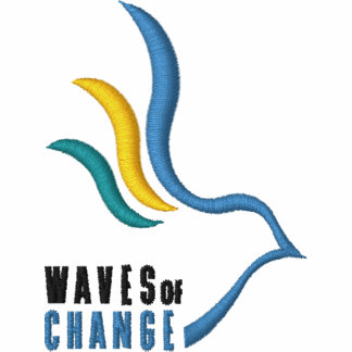 Waves of Change Embroidered Shirt