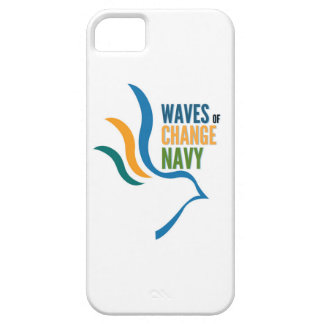 Waves of Change Navy Iphone Case