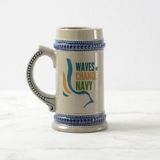 Waves of Change Navy Travel Mug