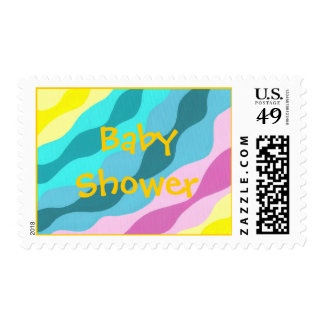 Waves of colors, Custom Baby Shower stamps
