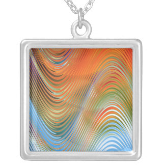 Waves of Colour Silver Plated Necklace