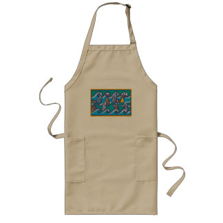 Waves of Fish Long Apron