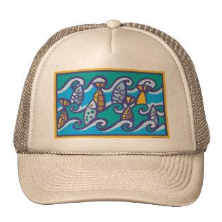 Waves of Fish Trucker Hat