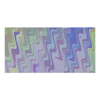 Waves of Green and Purple Card