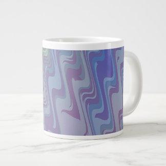 Waves of Green and Purple Jumbo Mugs