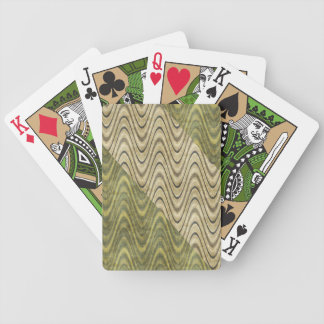 Waves of Green Bicycle Playing Cards