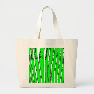 Waves of Green Large Tote Bag