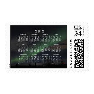Waves of Green Light; 2012 Calendar Postage