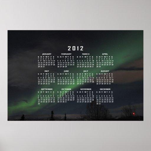 Waves of Green Light; 2012 Calendar Poster