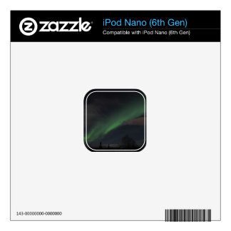 Waves of Green Light Decal For iPod Nano