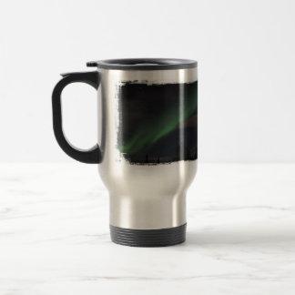 Waves of Green Light Travel Mug