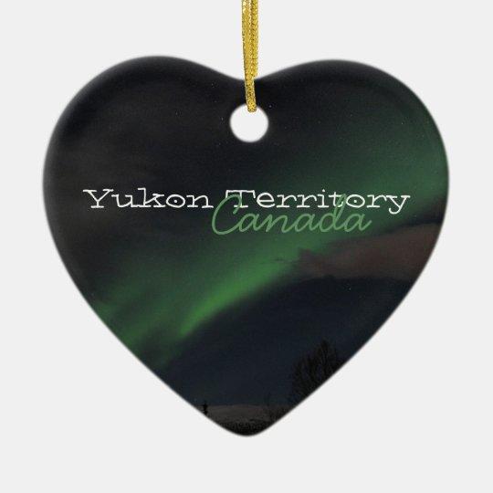 Waves of Green Light; Yukon Territory Souvenir Ceramic Ornament