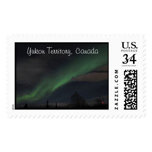 Waves of Green Light; Yukon Territory Souvenir Postage Stamps
