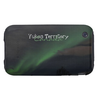 Waves of Green Light; Yukon Territory Souvenir Tough iPhone 3 Cases