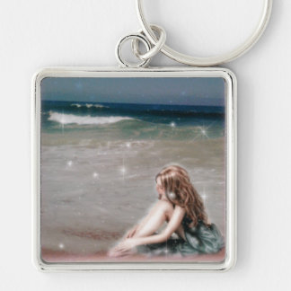 Waves of Healing Square Keychain