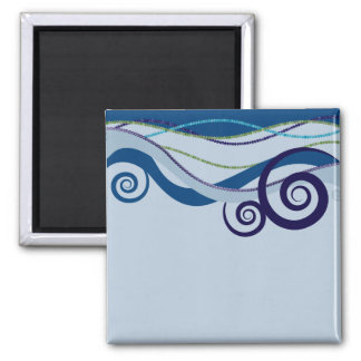 Waves of Inspiration Wet 2 Inch Square Magnet