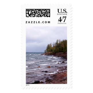 Waves of Lake Superior Postage