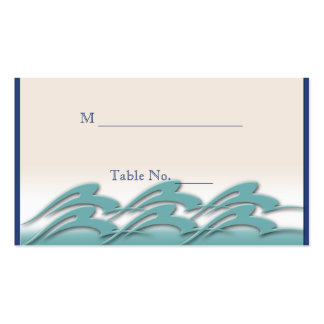 Waves of Love Navy Wedding Place Cards Business Card