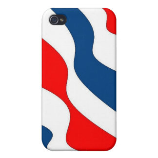 Waves of Patriotism - case Covers For iPhone 4