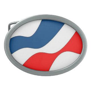 Waves of Patriotism Oval Belt Buckle