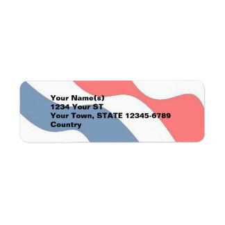Waves of Patriotism - return address labels