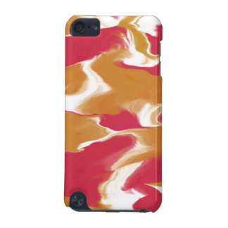 Waves of Peach and Red iPod Touch 5G Cases
