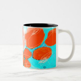 Waves of Porto Katsiki Two-Tone Coffee Mug