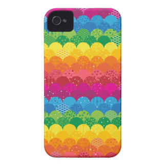 Waves of Rainbows iPhone 4 Case-Mate Case