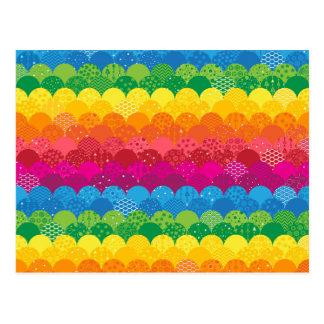 Waves of Rainbows Postcard