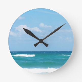 WAVES OF THE OCEAN ROUND WALL CLOCKS