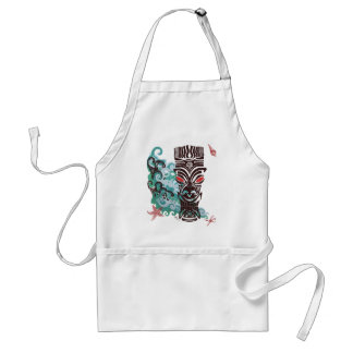 Waves of TIki Adult Apron