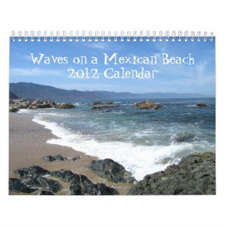 Waves on a Mexican Beach Calendar