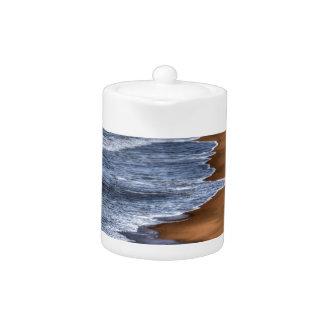 WAVES ON BEACH QUEENSLAND AUSTRALIA ART EFFECTS TEAPOT