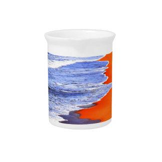 WAVES ON BEACH QUEENSLAND AUSTRALIA BEVERAGE PITCHER