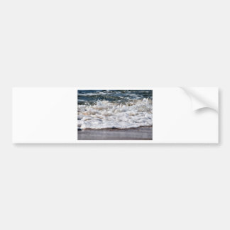 WAVES ON BEACH QUEENSLAND AUSTRALIA BUMPER STICKER