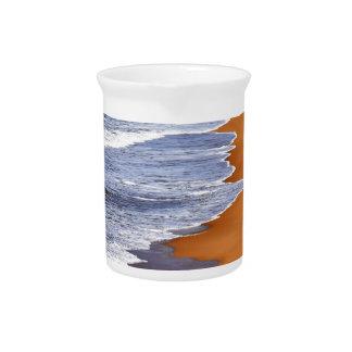 WAVES ON BEACH QUEENSLAND AUSTRALIA DRINK PITCHER