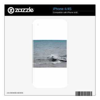 Waves on Ice Decal For iPhone 4S