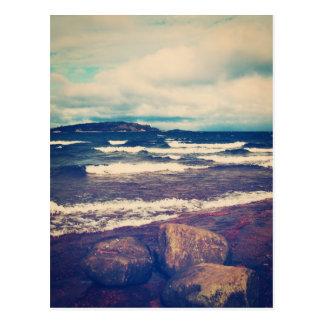 Waves On Lake Superior Postcard